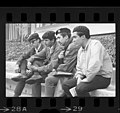 Four Brown Berets leaders, Fred Lopez, David Sanchez , Carlos Montes and Ralph Ramirez in Los Angeles, Calif., 1968.jpg