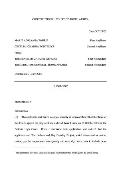 File:Fourie v Minister of Home Affairs (CC).djvu