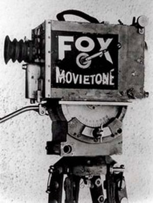 Film - A vintage Fox movietone motion picture camera.