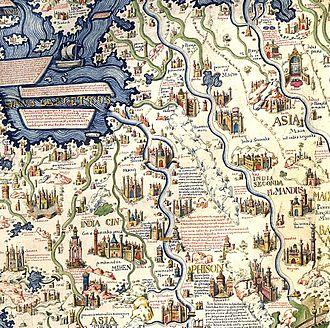 Phra Nakhon Si Ayutthaya (city) - Image: Fra Mauro World Map detail South East Asian mainland