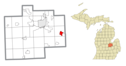 Location within Saginaw County