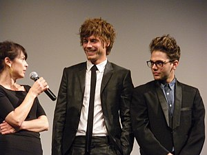 English: François Arnaud (actor), with Anne Do...