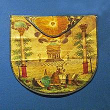 photo en couleur d'une décors maçonnique du XIXesiècle