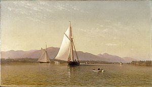 Tappan Zee - Francis Augustus Silva (American, 1835-1886). The Hudson at the Tappan Zee, 1876. Oil on canvas. Brooklyn Museum