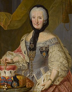 Countess Palatine Francisca Christina of Sulzbach Abess of Thorn (1717-1776) and Abbess of Essen (1726-1776)