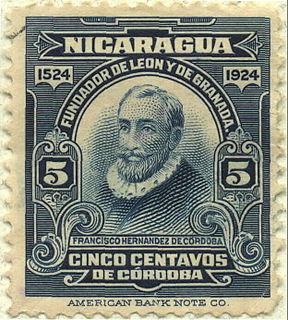 Francisco Hernández de Córdoba (founder of Nicaragua) Spanish conquistador