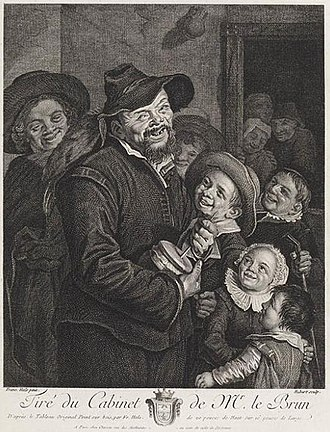 The Rommelpot Player - Image: Francois Hubert after Frans Hals rommelpot player