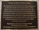 Frank O'Hara Historic Plaque.jpg
