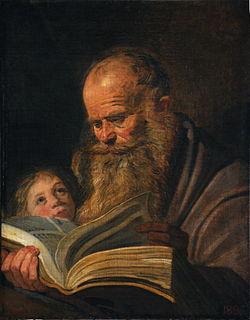 <i>St Matthew</i> (Hals) Painting by Frans Hals