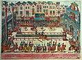 Frans Hogenberg (1535-1590) Hendrik II dodelijk verwond door Gabriel de Lorges (1559) 19-1-2018 12-54-10.JPG