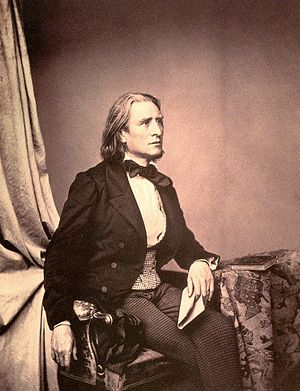 Composer and pianist Franz Liszt. Photo taken ...