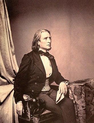 Franz Liszt - Liszt in 1858 by Franz Hanfstaengl