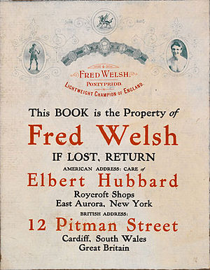 Scrap book of Freddie Welsh, later lightweight...