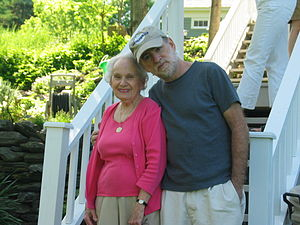 Frederic Schwartz - Relaxing with his mother, Charlotte Schwartz, May 2006.