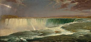Hudson River School - Frederic Edwin Church, Niagara Falls, 1857, Corcoran Gallery of Art, Washington, DC.