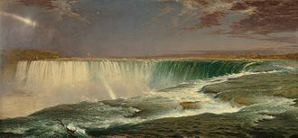 Hudson River School - Frederic Edwin Church, Niagara Falls, 1857, Corcoran Gallery of Art, Washington, DC.