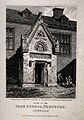 Free School, Thetford, Suffolk; doorway. Etching by J. Greig Wellcome V0014545.jpg