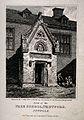 Free School, Thetford, Suffolk; doorway. Etching by J. Greig Wellcome V0014545.jpg