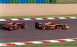 Frentzen en Bernoldi in de Arrows, 2002
