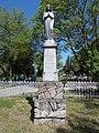 Friedhof, Baron Juliska Földváry von Földvári †1882, Engel Statue, 2021 Kápolnásnyék.jpg