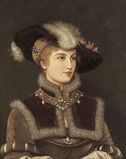 Friedrich August Kaulbach Portrait of a young lady in a fur hat