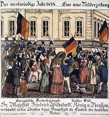 Der Ritt Friedrich Wilhelms IV. durch Berlin am 21. März 1848 (Quelle: Wikimedia)