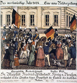 Imperial Sovereign - After the violent events on 18 March in Berlin, King Frederick William IV promised that he would put himself forward as the head of the national unity movement.