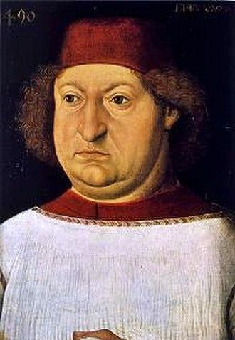 Friedrich von Hohenzollern - Bishop Friedrich  von Hohenzollern. Portrait by Hans Burgkmair
