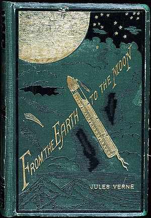 From the Earth to the Moon - Cover of an early English translation