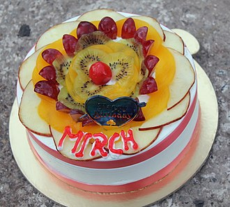 Cake - Birthday fruit cake