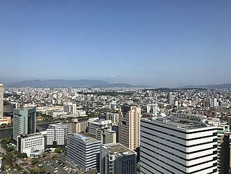 Cities designated by government ordinance of Japan - Image: Fukuoka City from Fukuoka Tower 2