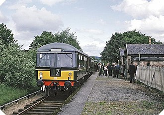 Banff, Macduff and Turriff Junction Railway - Special rail excursion at Fyvie en route to Turriff in May 1965 just before the line was shut completely.