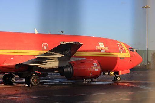 G-ZAPV Boeing 737-3Y0(F) (cn 24546 1811) Royal Mail (Titan Airways). (6532903131)