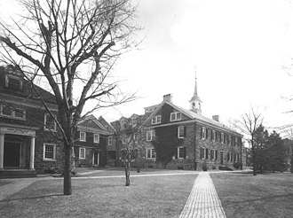 Germantown Academy - A view of the original Germantown campus, 1954