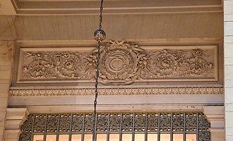 Grand Central Terminal - Frieze displaying the terminal's original logo