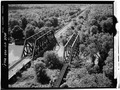 GENERAL VIEW OF BRIDGES - Baltimore and Ohio Railroad, Parallel Pratt Thru-Truss Bridge, Limestone, Cattaraugus County, NY HAER NY,5-LIM.V,1-1.tif