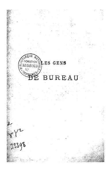 File:Gaboriau - Les Gens de bureau, Dentu, 1877.djvu