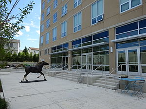 Monroe College - Gaddy Hall Courtyard at Monroe College - New Rochelle Campus