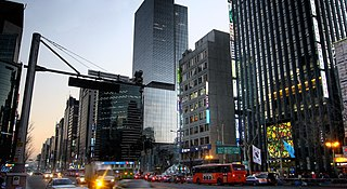Gangnam Station area in Seoul, South Korea.