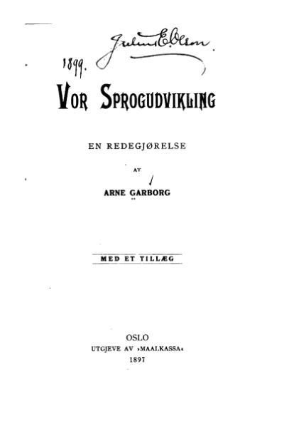 File:Garborg - Vor Sprogudvikling.djvu