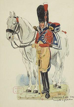 Gendarmes d'élite de la Garde Impériale - Image: Garde impériale Trompette de la gendarmerie d'élite en grande tenue