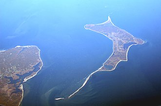 Gardiners Island - Gardiners Island from above