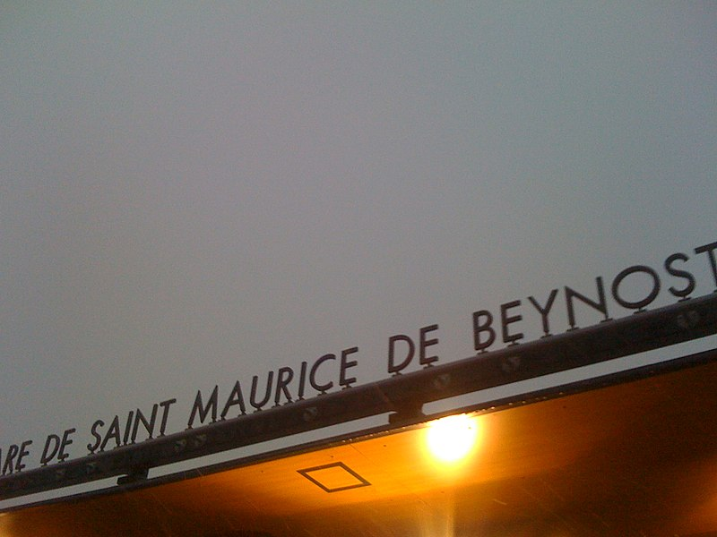 Gare de Saint-Maurice-de-Beynost.