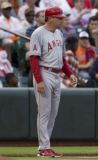 Gary DiSarcina - DiSarcina as third base coach for the Los Angeles Angels in 2015