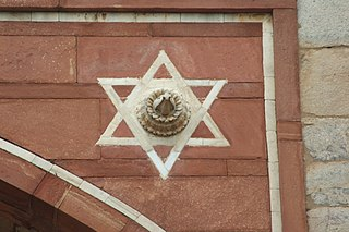 Hexagram di Makam Humayun, Delhi, India