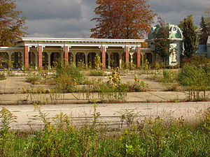 Geauga Lake - What's left of the Geauga Lake entrance, pictured in 2011
