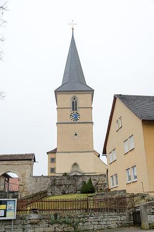 Gebsattel - Image: Gebsattel, Katholische Pfarrkirche St. Laurentius 001