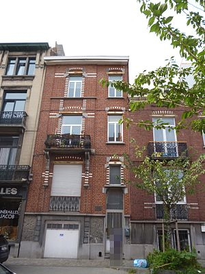 Hergé - The house in Etterbeek where Hergé was born