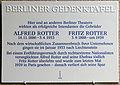 Gedenktafel Friedrichstr 101 (Mitt) Alfred und Fritz Rotter.jpg