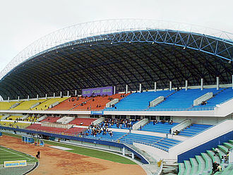 Indonesia national football team - Image: Gelora Sriwijaya Stadium Tribune
